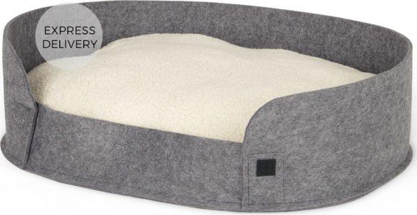 Hyko Felt Large Round Pet Bed, Grey