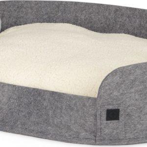 Hyko Medium Felt Round Pet Bed, Grey