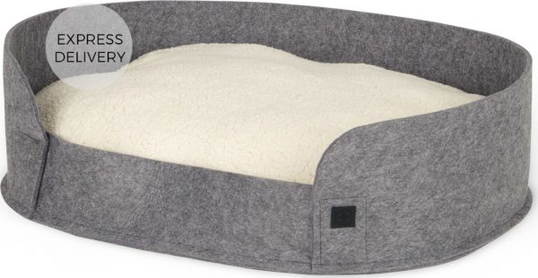 Hyko Medium Felt Round Pet Bed, Grey