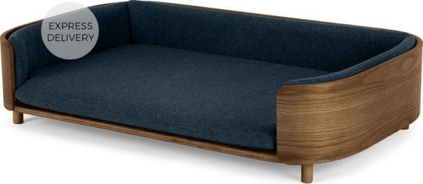 Kyali Dog Sofa, Natural Walnut and Navy, L/XL