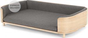 Kyali Dog Sofa, Natural ash and Grey, L/XL