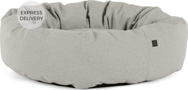 Kysler Extra Large Round Pet Bed, Grey