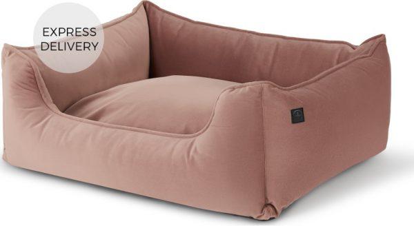 Kysler Medium Pet Bed, Velvet Pink
