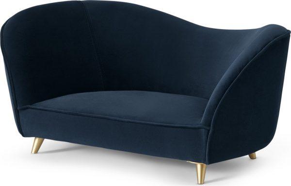 Kooper Pet Sofa, Blue & Brass, S/M