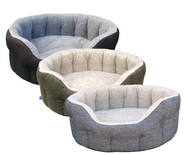 Basket Weave Fleece lined Softee Beds