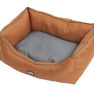 Buster Sofa Beds Leather Brown/Steel Grey