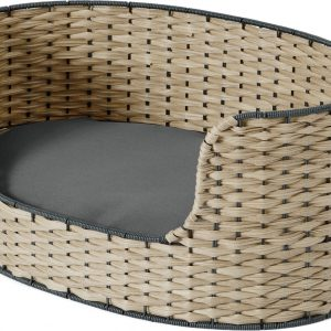 Oli Large Woven Pet Bed, Navy & Natural