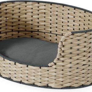 Oli Medium Woven Pet Bed, Navy & Natural