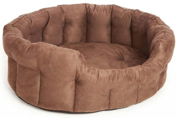 Oval Premium Faux Suede Softee Beds