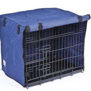 Settledown 2 Door Waterproof Dog Crate Covers Blue