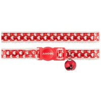 Ancol Acticat Reflective Gloss Hearts Cat Collar