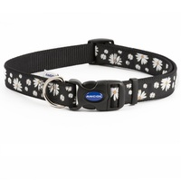 Ancol Black Daisy Adjustable Dog Fashion Collar