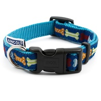 Ancol Blue Bone Adjustable Dog Collar