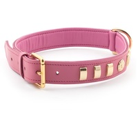 Ancol Deluxe Bull Terrier English Rose Leather Dog Collar