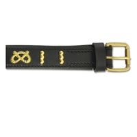 Ancol Deluxe Bull Terrier Staffordshire Knot Leather Dog Collar