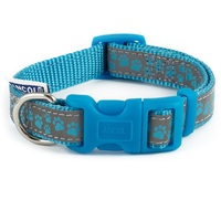 Ancol Reflective Blue Paw Dog Collar