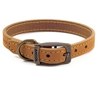 Ancol Timberwolf Mustard Leather Dog Collar