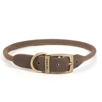 Ancol Timberwolf Round Leather Dog Collar