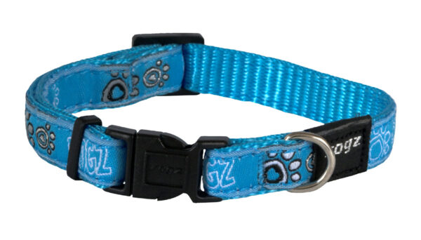 Fancy Dress Collar - Turquoise Paw