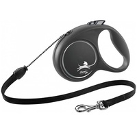 Flexi BLACK Design Cord Retractable Dog Lead
