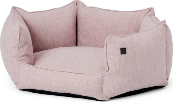 Kysler Hexagonal Re-processed Fabric Pet Bed, Medium, Pale Pink