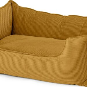 Kysler Pet Bed, Extra Large, Mustard Corduroy