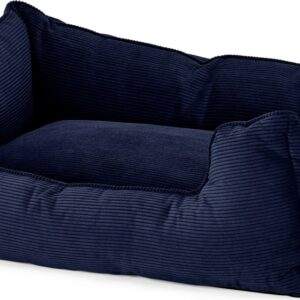 Kysler Pet Bed, Extra Large, Navy Corduroy