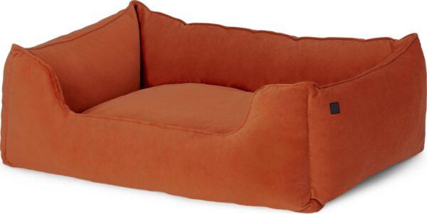 Kysler Pet Bed, Medium, Burnt Orange Velvet