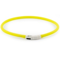 Ancol Rechargeable USB High Visibility Dog Collar Safety Halo Night Walking Band