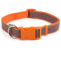 Ancol Reflective Orange Bone Dog Collar
