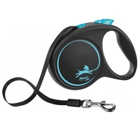 Flexi BLACK Design Tape Retractable Dog Lead