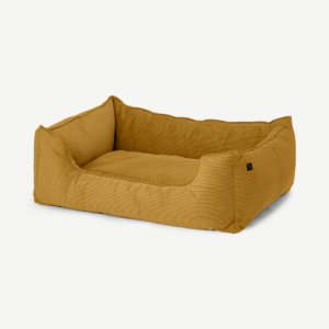 Kysler Pet Bed, Medium, Mustard Corduroy