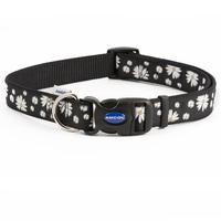 Ancol Black Daisy Adjustable Dog Fashion Collar